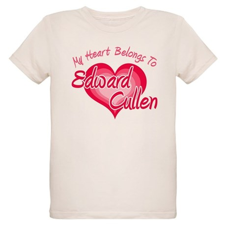 Edward Cullen Heart Organic Kids T-Shirt