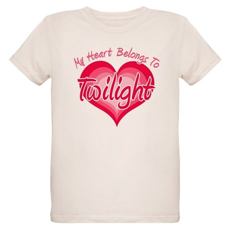 Heart Belongs Twilight Organic Kids T-Shirt