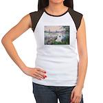 Seine / Eskimo Spitz #1 Women's Cap Sleeve T-Shirt