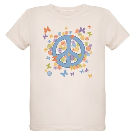 Peace & Butterflies Organic Kids T-Shirt