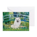 Bridge / Eskimo Spitz #1 Greeting Cards (Pk of 20)