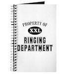 Property of Ringing Dept Journal