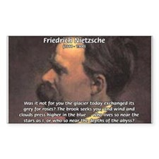 Master of Prose: Nietzsche Rectangle Decal