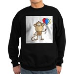 Monkey with Balloons Sweatshirt (dark)