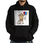 Monkey with Balloons Hoodie (dark)