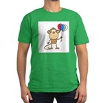 Monkey with Balloons Men's Fitted T-Shirt (dark)