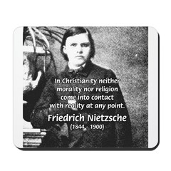 Critic of Religion: Nietzsche Mousepad