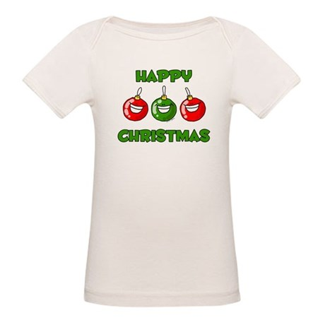 Happy Merry Christmas Organic Baby T-Shirt