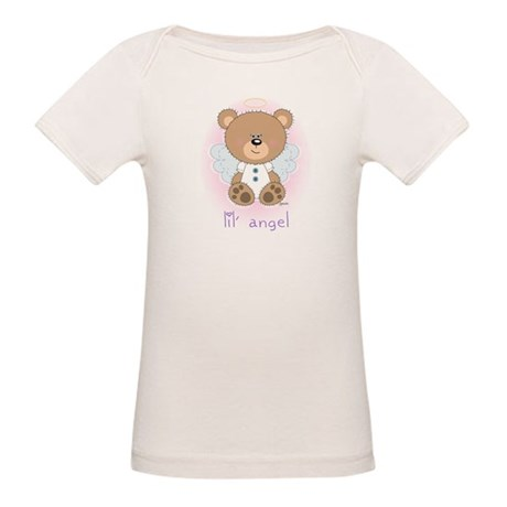 lil' brown bear angel Organic Baby T-Shirt