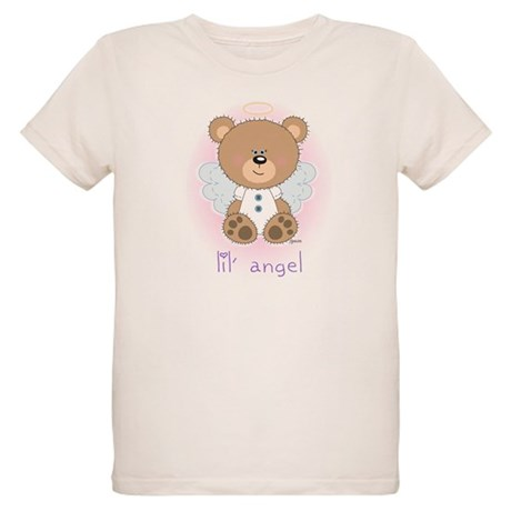 lil' brown bear angel Organic Kids T-Shirt