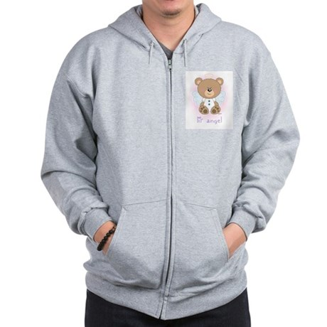 lil' brown bear angel Zip Hoodie