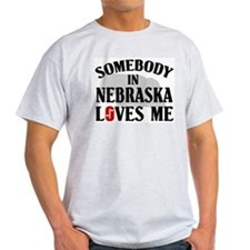 Somebody In Nebraska Ash Grey T-Shirt