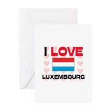 I Love Luxembourg Greeting Card
