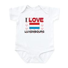 I Love Luxembourg Infant Bodysuit