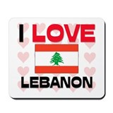 I Love Lebanon Mousepad
