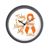 Missing My Nephew 1 LEUKEMIA Wall Clock