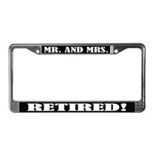 Mr and Mrs Retired License Plate Frame