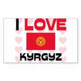 I Love Kyrgyz Rectangle Decal