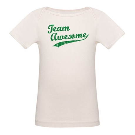 Team Awesome Organic Baby T-Shirt
