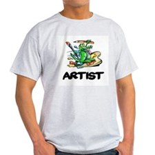 Artist Dragon on Palette T-Shirt