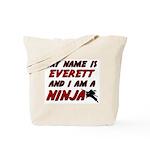my name is everett and i am a ninja Tote Bag