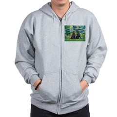 Flat Coated Retriever (two) Zip Hoodie
