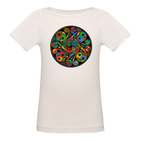 Celtic Stained Glass Spiral Organic Baby T-Shirt