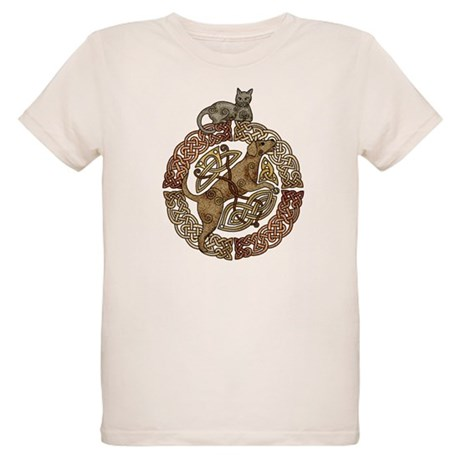 Celtic Cat and Dog Organic Kids T-Shirt