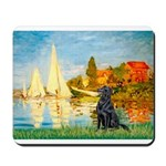Sailboats / Flat Coated Retri Mousepad