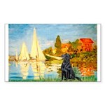 Sailboats / Flat Coated Retri Sticker (Rectangle 5