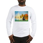 Sailboats / Flat Coated Retri Long Sleeve T-Shirt