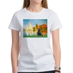 Sailboats / Flat Coated Retri Women's T-Shirt
