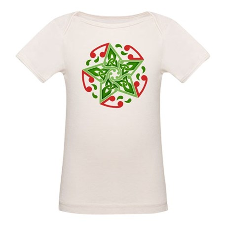 Celtic Christmas Star Organic Baby T-Shirt