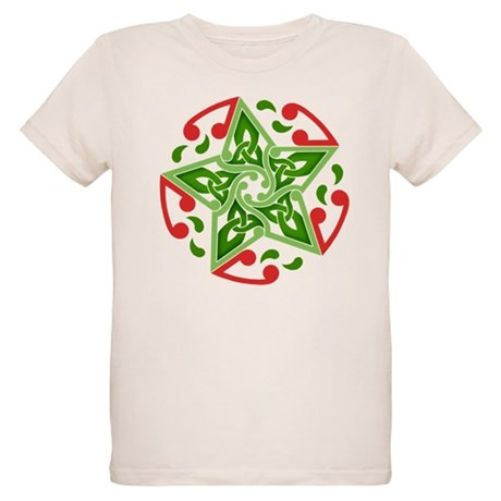 Celtic Christmas Star Organic Kids T-Shirt