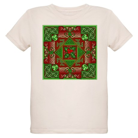 Celtic Labyrinth Holly Organic Kids T-Shirt