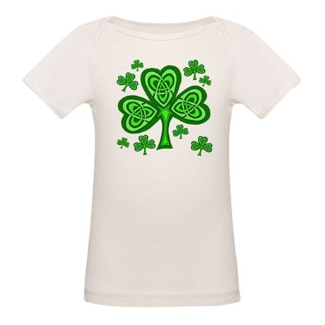 Celtic Shamrocks Organic Baby T-Shirt