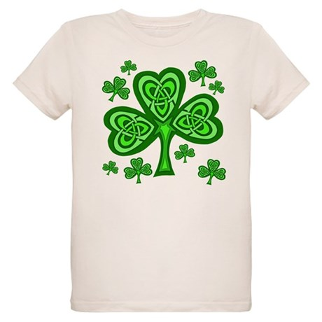 Celtic Shamrocks Organic Kids T-Shirt