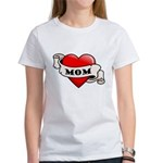 Mom Tattoo Heart Women's T-Shirt
