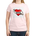 Mom Tattoo Heart Women's Light T-Shirt