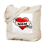 Mom Tattoo Heart Tote Bag