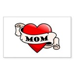 Mom Tattoo Heart Rectangle Sticker 50 pk)