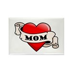 Mom Tattoo Heart Rectangle Magnet (10 pack)