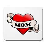 Mom Tattoo Heart Mousepad