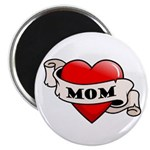 Mom Tattoo Heart Magnet