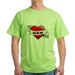 Mom Tattoo Heart Green T-Shirt