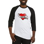 Mom Tattoo Heart Baseball Jersey