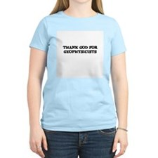 THANK GOD FOR GEOPHYSICISTS  Women's Pink T-Shirt