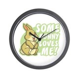 Some Bunny Loves Me Wall Clock