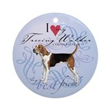 Treeing Walker Ornament (Round)