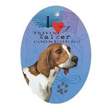 Treeing Walker Oval Ornament